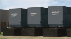 Generac Generators on site